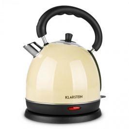 Klarstein Tea Time, barva krémová, 1,8 l, 2200 W, rychlovarná konvice (čajník), ušlechtilá ocel