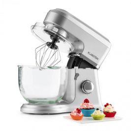 Klarstein Allegra Argente, stříbrný, kuchyňský robot, 800 W, 3 l, skleněná mísa