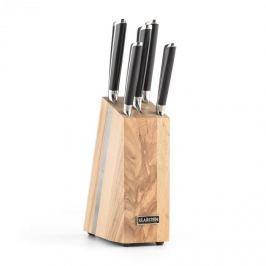 Klarstein Katana 6, sada nožů, 6dílná, nůžky, masivní dřevo – nožový blok, 3CR13 ušlechtilá ocel