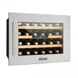 Klarstein Vinsider 24D, vestavěná chladnička na víno, 2 chladicí zóny, 24 lahví, ušlechtilá ocel