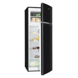 Klarstein Height Cool Black, stříbrná, kombinace chladničky s mrazákem, 171/41 l, 2-dveřová, A ++