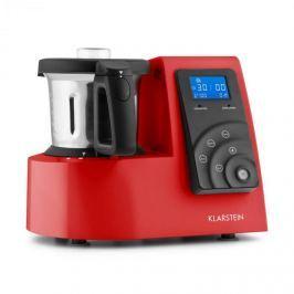 Klarstein Kitchen Hero 9 in 1, červený kuchyňský robot, 2 l, 600/1300 W,