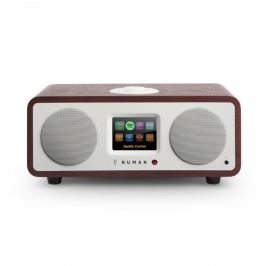 Numana One, 20W, mahagon, 2.1 internetové rádio s DAB / DAB +, bluetooth, připojení k Spotify