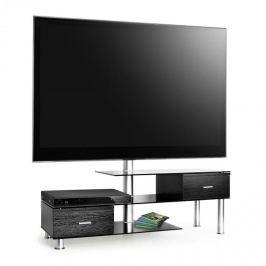 TV stolek Auna s držákem pro LCD a TV,nábytek z černého skla