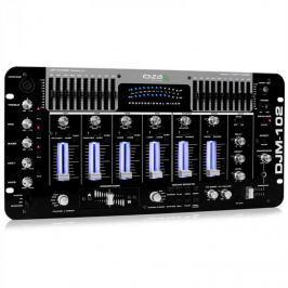 Profesionální Ibiza DJM-102 4-kanálový mix, LED, echo efekt
