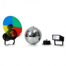 Beamz 151.250, sada – diskokoule, stroboskop a multi-color reflektor