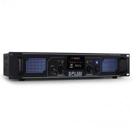 Skytec SPL-500 MP3 černý, PA zesilovač 1600W USB/SD/MP3