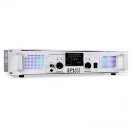 PA zesilovač Skytec SPL-500, USB, SD, MP3, 1600 W, bílý
