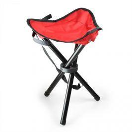 Oneconcept Přenosná kempovací židle, rybářská stolička, červeno-černá,
