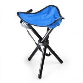 Oneconcept Přenosná kempovací židle, rybářská stolička, modro-černá, 50