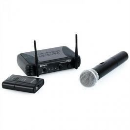 Bezdrátový mikrofonový set Skytec STWM712C, 2 kanály,headset