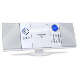 Oneconcept V-12-BT, bílá, stereo systém s CD-MP3-přehrávačem, USB, SD, AUX
