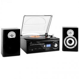 Auna TT-190 stereo, gramofon, MP3 nahrávání,CD,SD,USB,kazeta