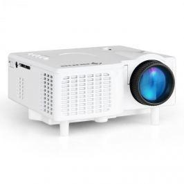Auna LCDP, Mini LED projektor, VGA, AV, bílý