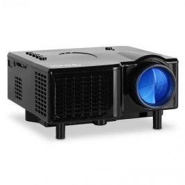 Auna Mini LED projektor, VGA, AV, černý