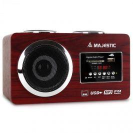Kompaktní rádio Majestic AH 173, MP3 přehrávač, USB, SD, AUX Kompaktní rádia