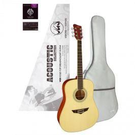 Kytara VGS Acoustic Selection Mistral Pack, pouzdro, ladička
