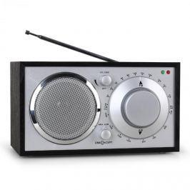 Oneconcept Lausanne-BL, černé, retro rádio, FM, AUX