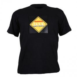 Summary Tříbarevné LED tričko, Warning Party People, velikost XL
