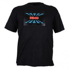 Summary Tříbarevné LED tričko, design Disco, velikost XL