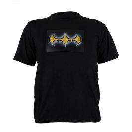 Summary Dvoubarevné LED tričko, design Batman, velikost L