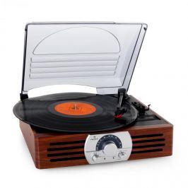 Auna TT - 83N, gramofon , FM, dřevo