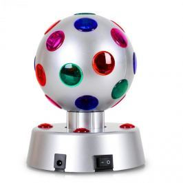 Oneconcept Disco-Ball-4-S, LED efekt, stříbrný, 13,5 cm