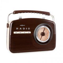 Oneconcept NR-12-DW, retro rádio, hnědá/béžová