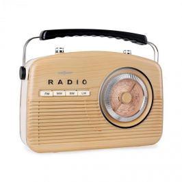 Oneconcept NR-12-LW, tranzistorové rádio, FM, AM, retro 50. let,