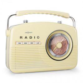 Oneconcept NR-12-CR, FM/MW rádio, retro, krémové