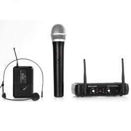 Bezdrátový mikrofonní set Malone UHF-250 Duo, 2 kanály