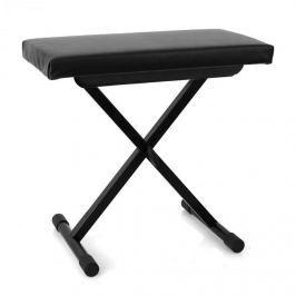 Malone Piano Bench, židle ke klávesám, výškově nastavitelná, černá