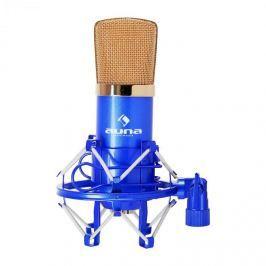 Auna CM001BG studiový mikrofon modro-zlatý, nástroje, XLR