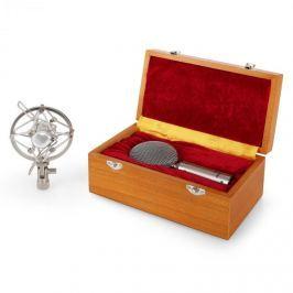 Auna CRM15 páskový mikrofon, stříbrný, XLR, vintage