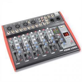 Power Dynamics PDM-L605, 6 kanálový mix. pult, USB, AUX,+48V