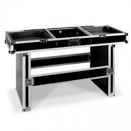FrontStage Profi DJ stůl Coffin Case pro 2 přehrávače a mixér, polstrovaný, 155 cm