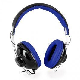 Vieta VHP-YO300BK, sluchátka, kůže, modrá