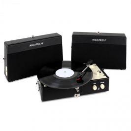Ricatech RT80, vintage gramofon, černý, AUX