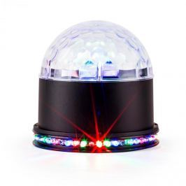 Ibiza UFO-ASTRO-BL, LED světelný efekt, RGB, černý
