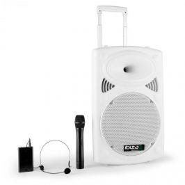 """Ibiza Port12VHF-BT 30cm (12"""") PA-repro, bílý, USB SD AUX MP3 Bluetooth"""