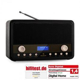 Auna Digidab, retro DAB/DAB+ digitální rádio, přenosné, FM/AM, PPL, budík