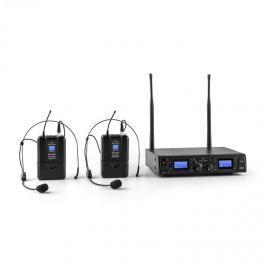 Malone Duett Pro V2, 2 kanálový UHF bezdrátový mikrofonní set, dosah 50 m
