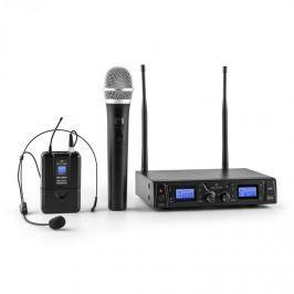 Malone Duett Pro V3, 2 kanálový UHF bezdrátový mikrofonní set, dosah 50 m