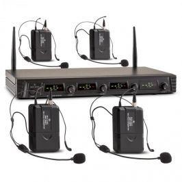 Malone Duett Quartett Fix V3, 4 kanálový UHF bezdrátový mikrofonní set, dosah 50 m