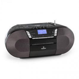 Auna Jetpack, černý, přenosný boombox, USB, CD, MP3, FM, provoz na baterie