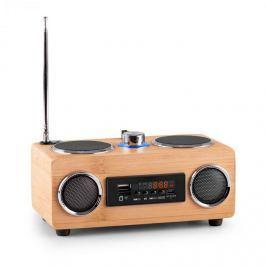 Oneconcept Bamboost 3G, bambusový reproduktor, FM, USB, micro SD, AUX, akumulátor