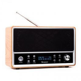 Auna Charleston, DAB+ - digitální přenosné rádio s FM/AM, RDS a budíkem, buk