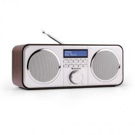 Auna Georgia DAB-rádio, DAB +, FM, předvolby stanic, budík, AUX, černé