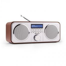 Auna Georgia DAB-rádio, DAB +, FM, předvolby stanic, budík, AUX, třešeň