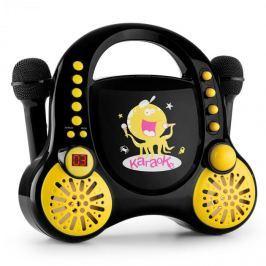Auna Rockpocket, dětský karaoké systém, CD, AUX, 2x mikrofon, sada nálepek, černý